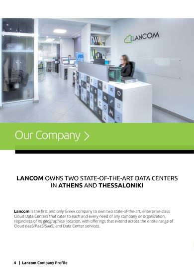 data center it services company profile sample
