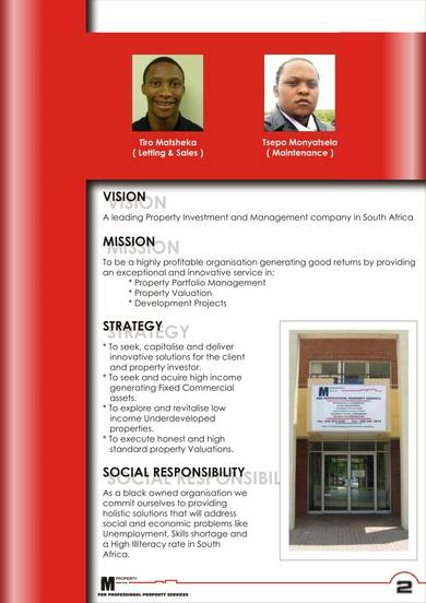 deailed property services company profile sample
