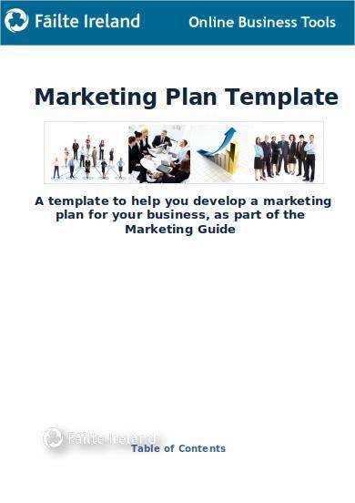 editable marketing plan template