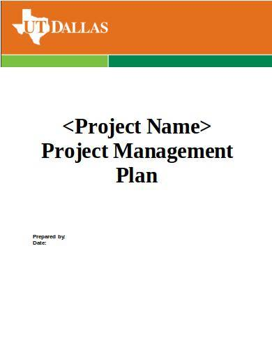 editable project management plan template