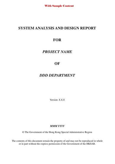 effective business systems analysis template
