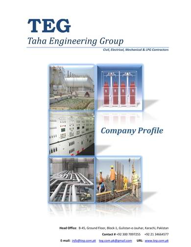 engineering group company profile sample