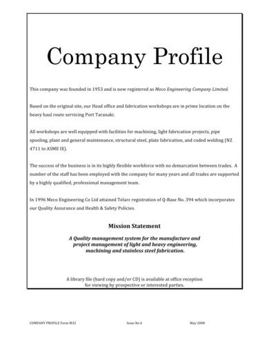 engineering services company profile sample 04