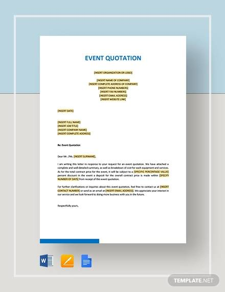 10+ Event Quotations , Free Sample, Example, Format Download