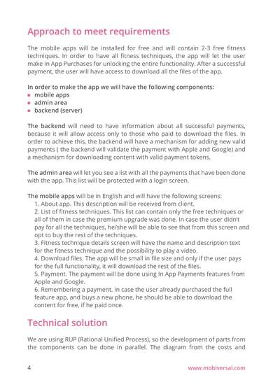 fitness app development proposal sample