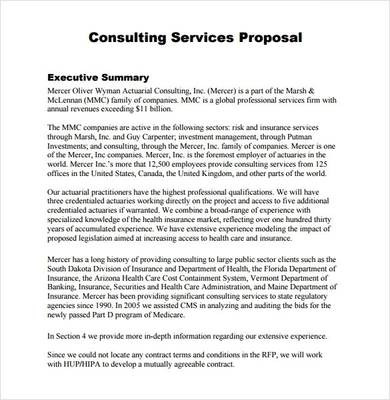 free consultant proposal template 1