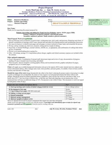 freelance project proposal sample template