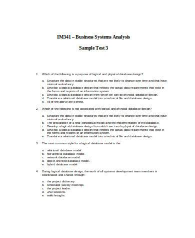 general business systems analysis