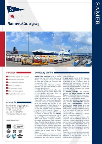global forwarding company profile sample