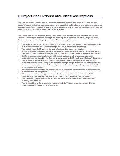 it project management improvement plan sample