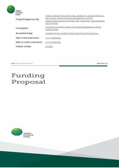 investment funding proposal template