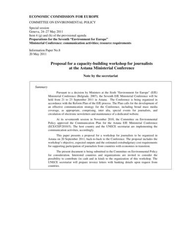 journalist training workshop proposal sample