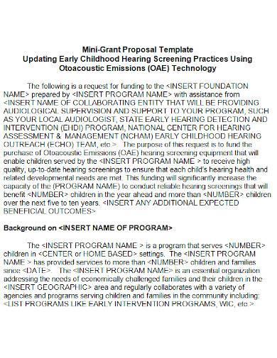 mini grant proposal in ms word