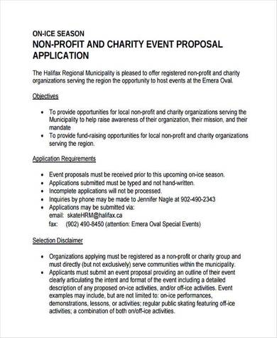 nonprofit charity event proposal sample