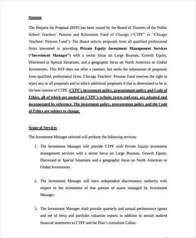 private equity investment proposal 1