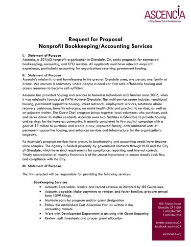request for proposal for bookkeeping and accounting services