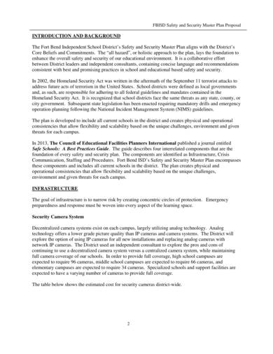 safety and security master plan proposal sample 2
