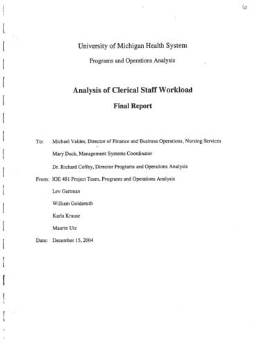 sample analysis of clerical staff workload 01