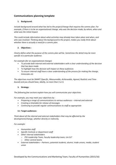 Free 9 Internal Communications Plan Samples In Pdf Ms Word