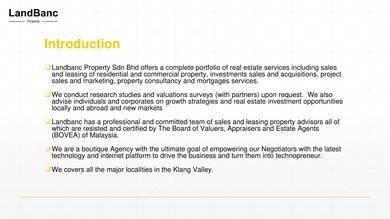 sample malaysian real estate company profile