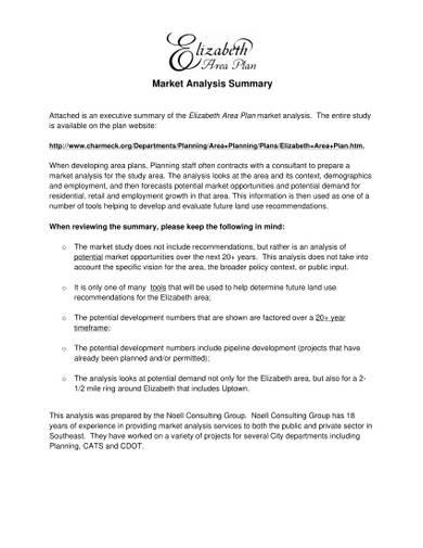 sample market analysis summary
