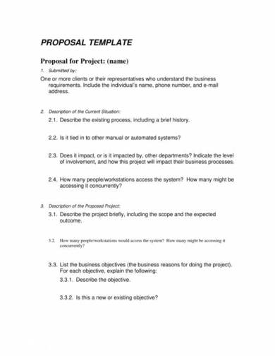 sample one page proposal template