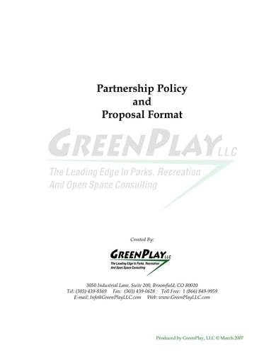 sample partnership policy and proposal format 01