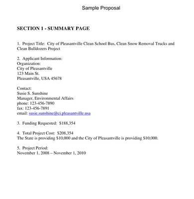 school grant proposal sample