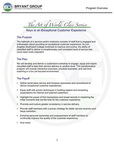 service training proposal sample