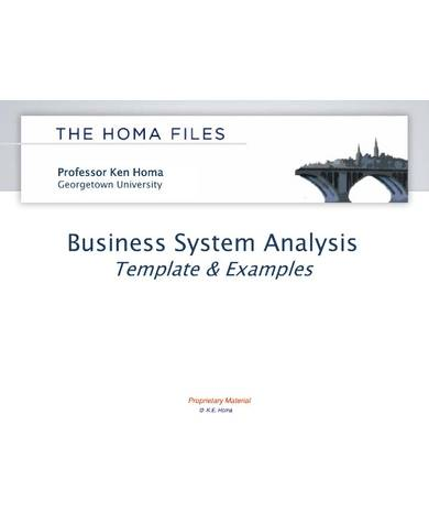 simple business systems analysis