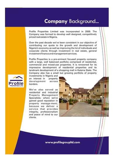 simple real estate company profile sample 02