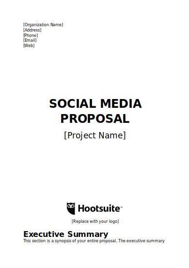 simple social media proposal template