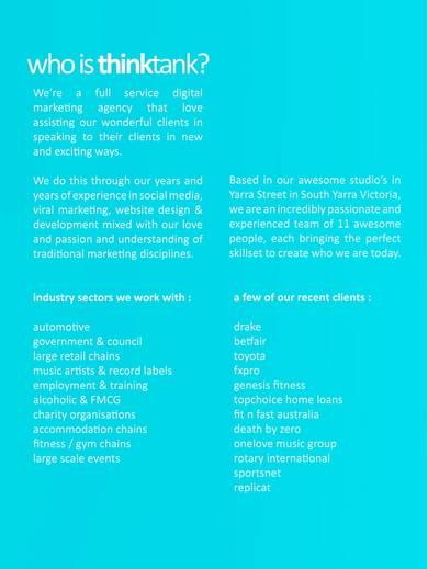 social media proposal and marketing campaign sample