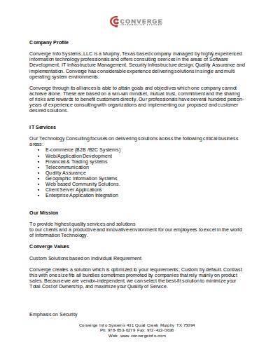 software development company profile sample