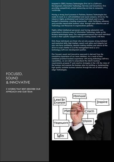 software development consultancy company profile sample