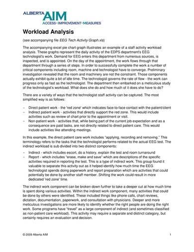 staff activity workload analysis sample 1