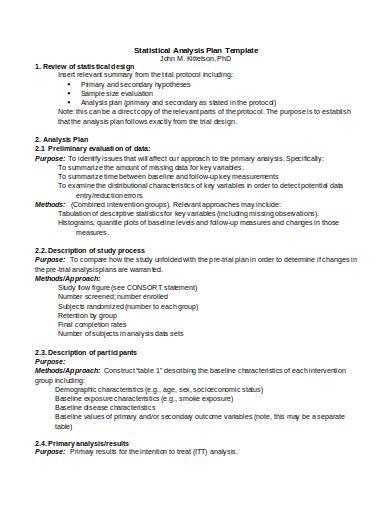 statistical analysis plan template
