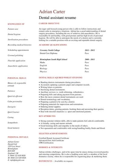 free 8  dental assistant resume samples in pdf