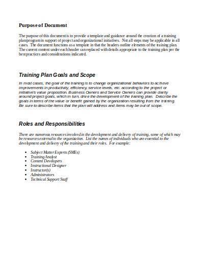 technology training plan template