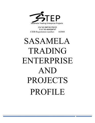 trading enterprise company profile sample
