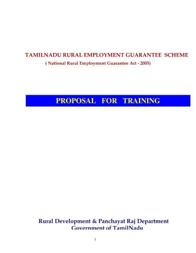 comprehensive training proposal sample