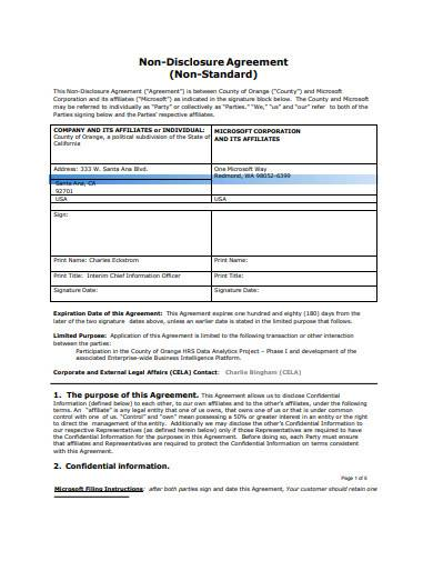 contractor non disclosure agreement template