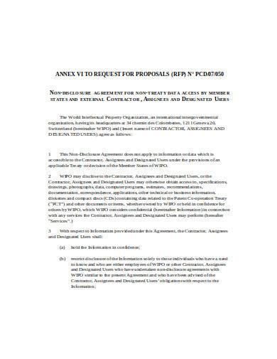 contractor non disclosure confidentiality in doc