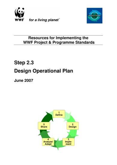 design operational plan sample