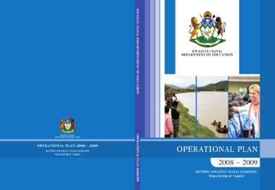 education operational plan sample