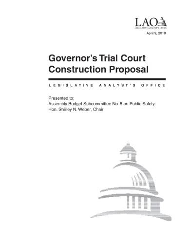 governor's trial court construction proposal