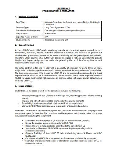 individual contractor reference