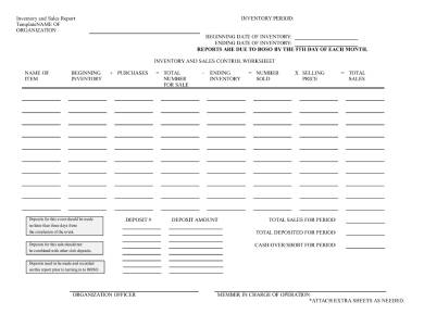 inventory and sales report template