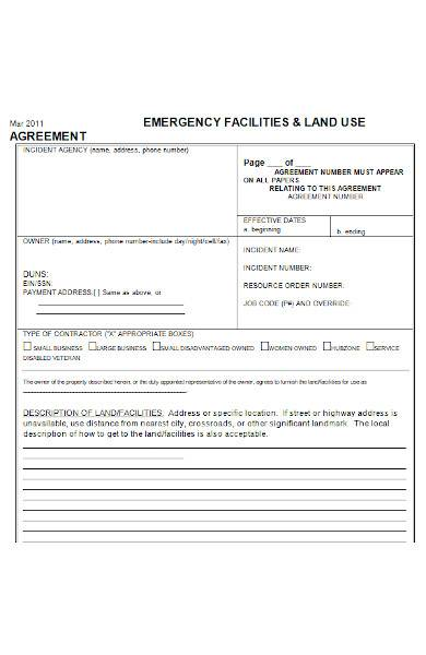 land agreement sample in ms word