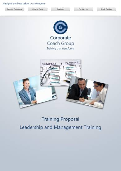leadership and management training proposal sample